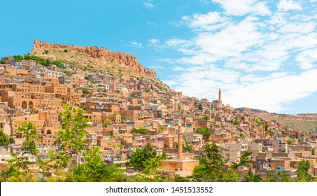 Mardin old town with bright blue sky - Mardin, Turkey