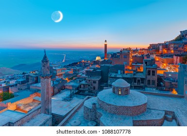 Mardin old town at dusk - Turkey