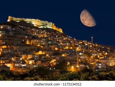 "Mardin old town at dusk - Mardin, Turkey  ""Elements of this image furnished by NASA"""
