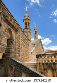 Mardin old town with with spectacular view of mesopotamia and Mardin castle - Mardin, Turkey