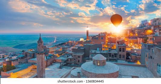 Mardin old town with spectacular views of mesopotamia and Mardin castle - Mardin, Turkey