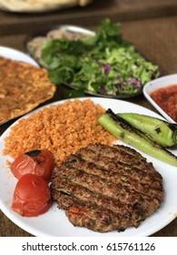 Mardin region style kebab & bulgur