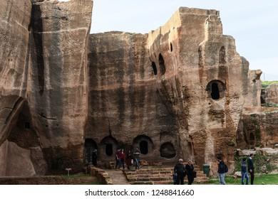 Mardin, Turkey 01 December 2018: Mesopotamia Dara Ancient City.