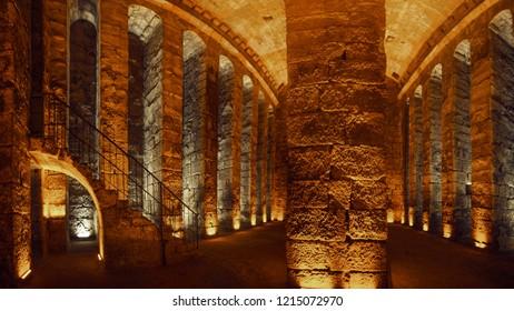 Mardin Turkey  14 September 2018: Mesopotamia Dara Ancient City Ruins Different View Perspective