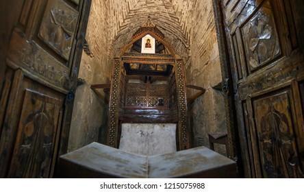 Mardin Turkey  15 September 2018: Deyrulzafaran Syriac Monastery in Midyat Town