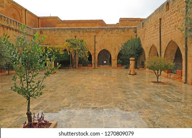 Mardin Turkey 16 December 2018: Deyrulzafaran Syriac Monastery in Midyat Town.An amazing mix of cultures and heritages, Mardin is a treasure, with its churches, mosques and madrassas.
