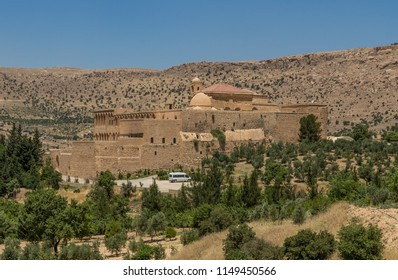 Mardin, Turkey - 16th June 2017 - an amazing mix of cultures and heritages, Mardin is a treasure, with its churches, mosques and madrassas. Here in particular the Deyrulzafaran Assyrian Monastery