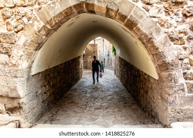 Mardin, Turkey, April 20, 2018: Mardin is an old city. Historic stone buildings, narrow streets of the city are the best tourist attractions of Mardin. Turkey