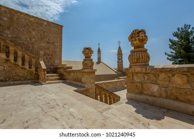 Mardin Turkey:June 16, 2015 Mor Gabriel Monastry, (Deyrulumur), Midyat, Mardin.Turkey