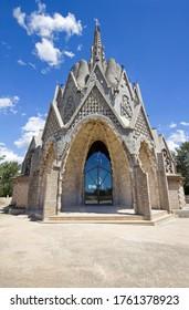 Mare de Deu de Montserrat (Our Lady of Monsterrat) sanctuary in Montferri (Catalonia, Spain)  Is a small church.