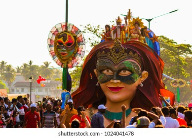 Margao,Goa/India- Feb 12 2018: Carnival celebrations in Goa, India