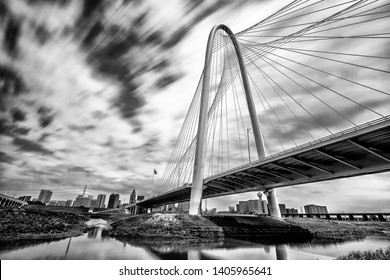 Margaret Hill Hunt Bridge in Black and White