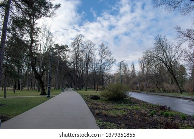 Margaret island park early in the morning - Budapest Hungary