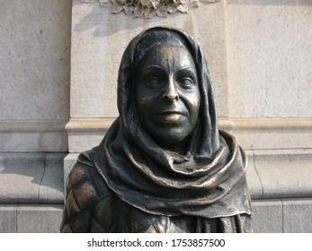 Margaret Krook Statue in Stockholm, Sweden.