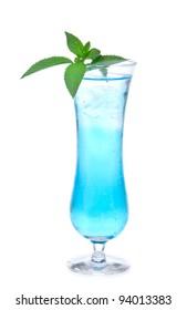 Margarita cocktail alcohol drink spirits mojito, mai tai, martini, blue hawaiian isolated on a white background