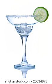 Margarita cocktail glass isolated on white