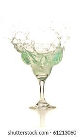 margarita cocktail splash
