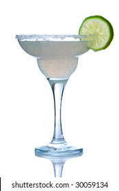 Margarita or Daiquiri cocktail isolated on white