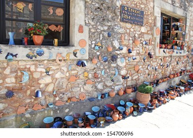 MARGARITES, GREECE - SEPTEMBER 8: Traditional creten village Margarites famous for handmade ceramics on September 8, 2013 in Margarites