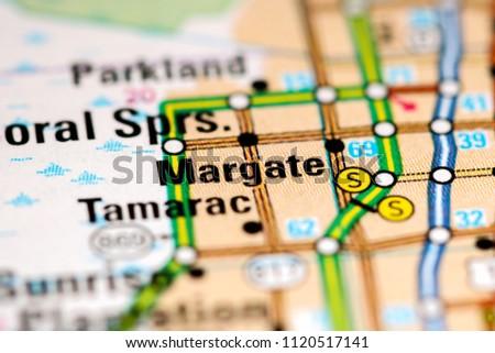 Margate Florida Map.Margate Florida Usa On Map Stock Photo Edit Now 1120517141