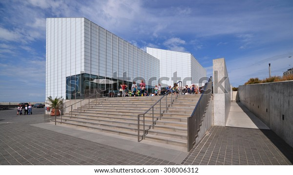 MARGATE, KENT, UK - AUGUST 15. 2015. The Turner Contemporary art gallery is named after the town's famous visiting landscape painter JMW Turner and is located at Margate, Kent, UK.