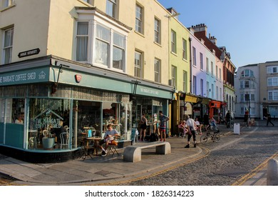Margate / UK - 22 September 2020: Margate old town, Thanet, Kent