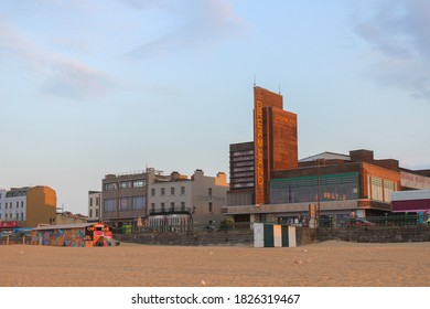 Margate / UK - 22 September 2020: Dreamland and Margate Beach, Thanet, Kent