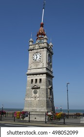 MARGATE, UK-SEPTEMBER 10: The Clock Tower  celebrates Queen Victoria's Golden Jubilee in 1887 . Margate has been voted the best seaside town in Britain. September 10, 2016 in Margate, Kent UK.