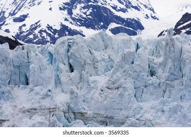 Margerie Glacier in Glacier Bay National Park Alaska taken from ship in the bay