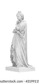 Marguerite dAngouleme. Statue of a woman.