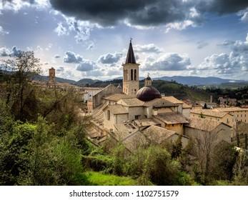 Maria Assunta cathedral in Spoleto, Umbria Italy