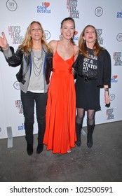 """Maria Bello, Olivia Wilde and Diane Lane  at the Artists for Peace and Justice """"Artists for Haiti"""" benefit, Track 16 Gallery, Santa Monica, CA. 01-28-10"""