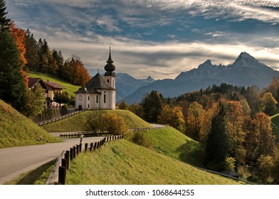 Maria Gern Church with Watzmann view Berchtesgaden Bavaria Alps Germany