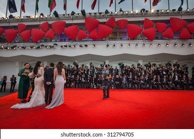 Maria Grazia Cucinotta attends the opening ceremony and premiere of 'Everest' during the 72nd Venice Film Festival on September 2, 2015 in Venice, Italy.