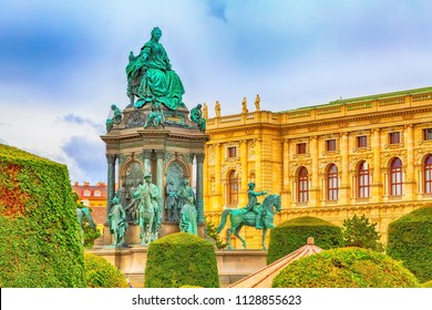 Maria Theresa Monument and Fine Arts Museum in the center of Vienna, Austria