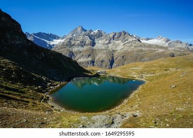Maria zum Schnee Chapel and Schwarzsee on Matterhorn Glacier Trail in Zermatt, Switzerland - Shutterstock ID 1649295595