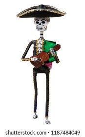 Mariachi Skeleton Hand crafted figurine made specially to celebrate the day of the death all over Mexico