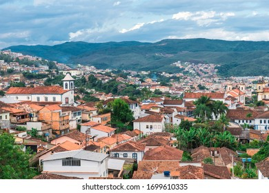 Mariana, Minas Gerais, Brazil - February 26, 2013: View over the colonial city of Mariana, Minas Gerais state, Brazil