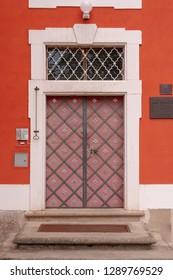 Marianska Tynice, Pilsen Region, CZ - JUN 12, 2007 -Door to the Museum and Gallery at Marianska Tynice.  Build in the 18th century. Tynec, CZ.