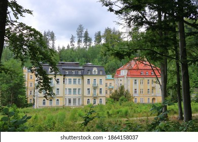 Marianske Lazne-Marienbad, Czech Republic: Streets and buildings in Marianske Lazne city center, Czech republic - Shutterstock ID 1864158037