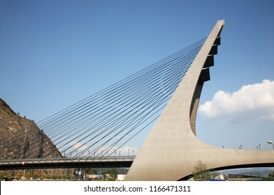Mariansky Bridge over Elbe river in Usti nad Labem. Czech Republic