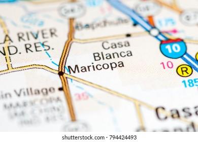 Maricopa. Arizona. USA on a map