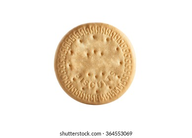 Marie biscuit on clean background