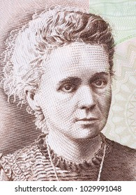 Marie Sklodowska Curie portrait from Polish money