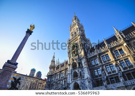Marienplatz square in Munich Germany