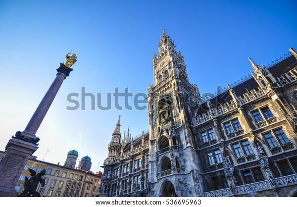 Marienplatz in München Deutschland
