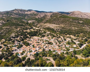 Maries village in the middle of Thasos Island, famous for it's old olive trees