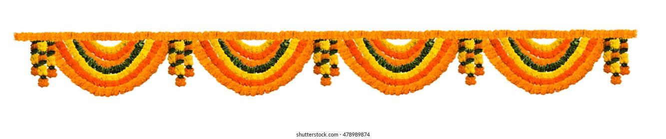 Marigold Flower Toran or garland for entrance door
