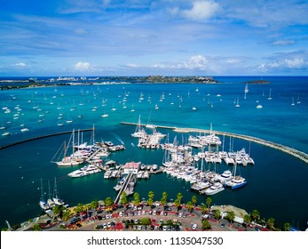 Marigot Bay Port in Saint Marten