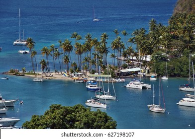 Marigot Bay, Saint Lucia, Caribbean Sea